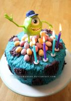 Monsters University Cake by claremanson