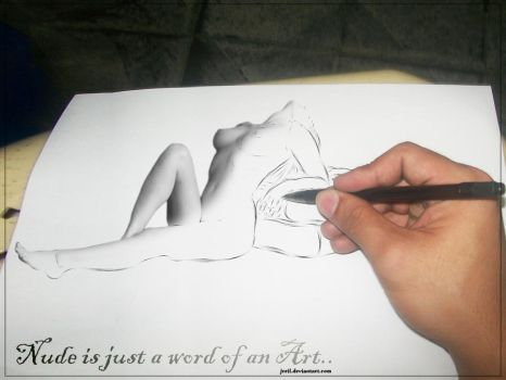 nude is just a word of an art by jreil