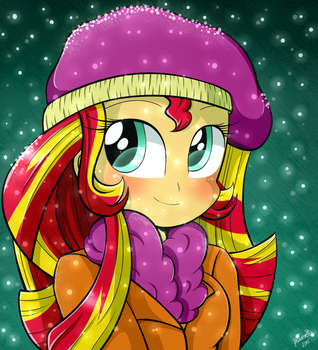Cute Girl Sunset Shimmer by Riouku