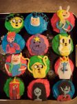Adventure Time cupcakes by NikkiXKaila