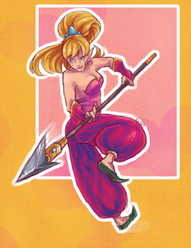 Secret of Mana: The Heroine by robotRainbows