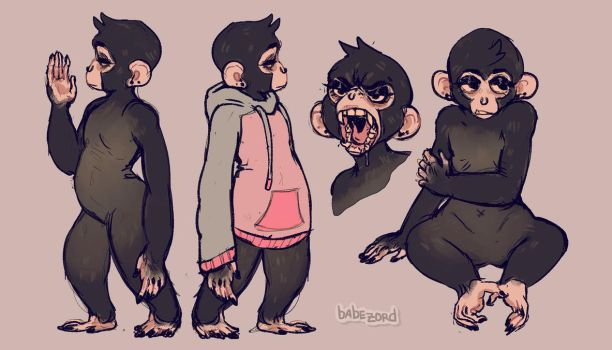 (closed) ape with a nose ring by babezord
