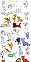 Kitty cat adoptables by Icey-adopts