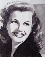 Rita Hayworth by professorwagstaff