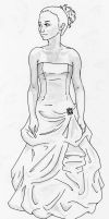 Prom Dress Sketch by myriamelle