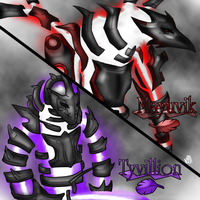 RQ: Mayuvik and Tyvillion by NinjaWerewolves