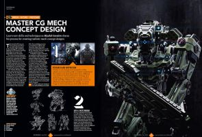 3d World Magazine July 2014 Mech Tutorial by sancient
