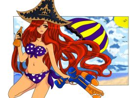 pool party Miss fortune by olrak02