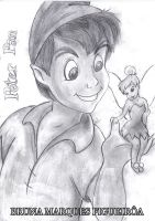 Peter Pan and TinkerBell by Brunamf
