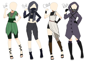Naruto Outfit Adoptables #1. CLOSED by MissMondayMourning