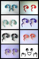 Fake Gauge tentacle Earrings gallery by KittyAzura