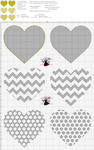 Golden Hearts - Xstitch Pattern by pinkythepink