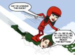 If it were snowing here i'd have done this to u=P by lovefreek