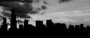 Chicago Skyline Silhouette by gerald-the-mouse3