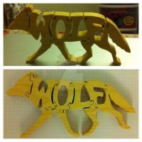 Wooden Wolf Puzzle by awesomeness8D