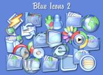 Blue Icons 2 by digitalresource