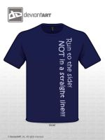 Run to the side T shirt Quote contest by Fairytopiasenshi