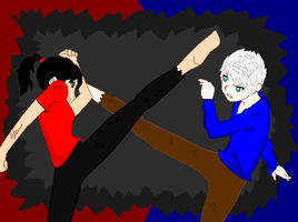 Jack Frost VS Paige by TheXBunny