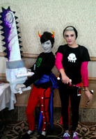 Male Kanaya Maryam and Rose Lalonde Cosplay by JoeyEldridge