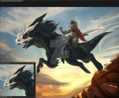Beast Rider Wip Prelim_colours2 by riazkhan