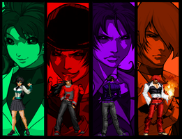 Blood Warrior Team KOF Mugen by OrochiDarkKyo