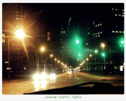 .evening traffic lights. by GrotesqueDarling13