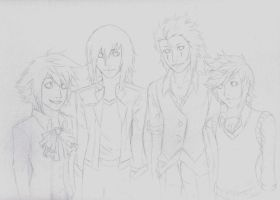 Boys Before Paopus WIP2 by Akusreu