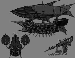 sky pirate concept by DEATHlikescats