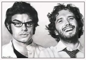 Flight of the Conchords by MikeRobinsArt