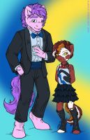 Diamondbloom Siblings at the Soiree by MustLoveFrogs