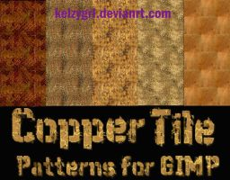 Copper Tile Patterns for GIMP by kelzygrl