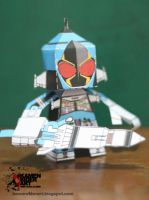Kamen Rider Fourze Cosmic States papercraft by jazzmellon