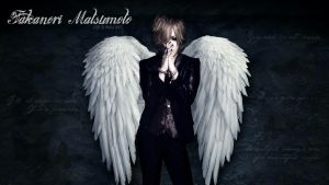 The GazettE - Ruki Wallpaper (wings version) by Me-The-Manga-Fan101
