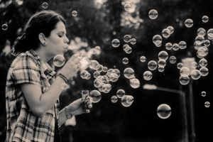 Bubble girl by ideea