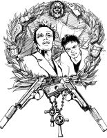 Black and White Boondock Saints by morganmcardle