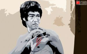 Bruce Lee Vector wallp by 3xhumed