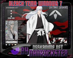 Ukitake Jushiro Theme Windows 7 by Danrockster