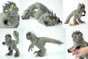 OOAK Poseable Fantasy Art Doll, Griffin by FellKunst