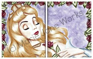 Touch The Spindle .100TC 11. Sleeping Beauty by MarieJaneWorks