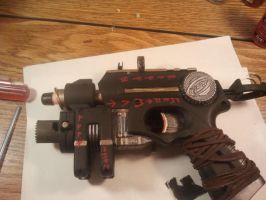 Steampunk Ebony Pistol by DefenderofWolves