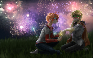 [USxUK Calender 2015] July - ( +speedpaint ) by CaptainJellyroll