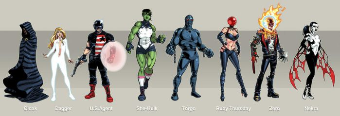 My Avengers lineup by iliaskrzs