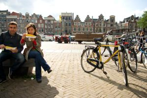 Corn and bikes in Amsterdam by steppeland