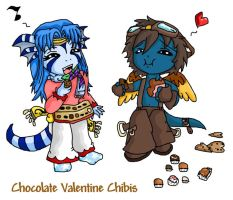 Chocolate Valentine Chibis. by Nestly