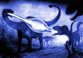 Add lasers (and some) to paleoart by tuomaskoivurinne