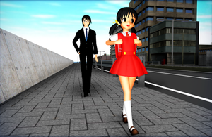 MMD Coming back from school... by GoblinZeppelin