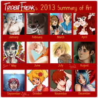 2013 Summary of Art Meme by TridentFreak
