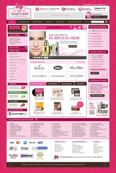 FREE Template: My Beauty Shop by psdcow