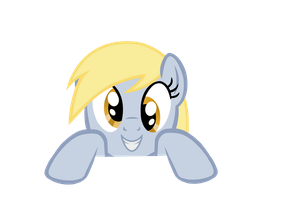 over (like a fence) Derpy by kuren247
