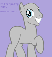 Smiling Stallion ( MLP Base ) by Mittenpatty
